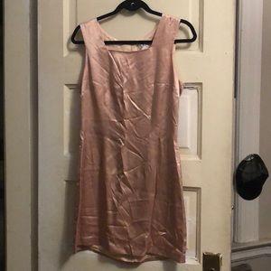 Vintage Blush Satin Dress